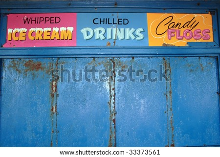 a closed shop on the seaside in ireland - stock photo
