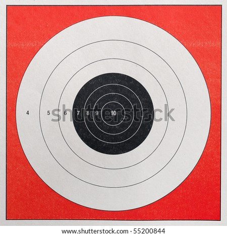 A Closeup of a practice target used for shooting - stock photo