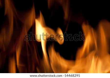 A closeup of some hot fiery flames burning which works nicely as an art element or background.