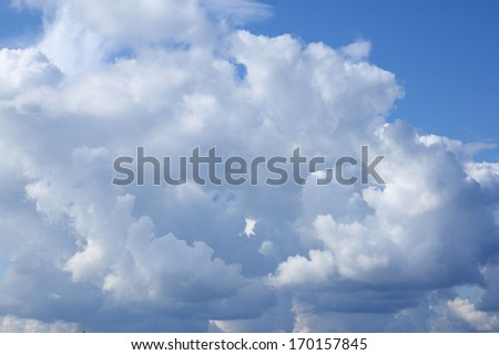 A cloud in the sky - stock photo