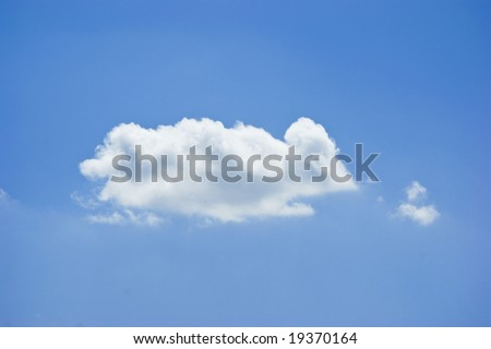 A cloud looking like a mouse