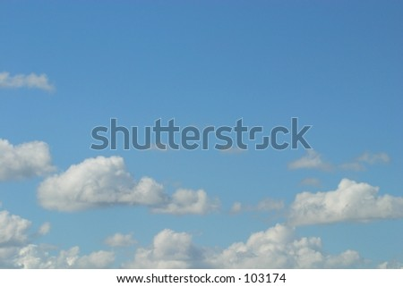 A cloudscape with almost cartoonish qualities. - stock photo