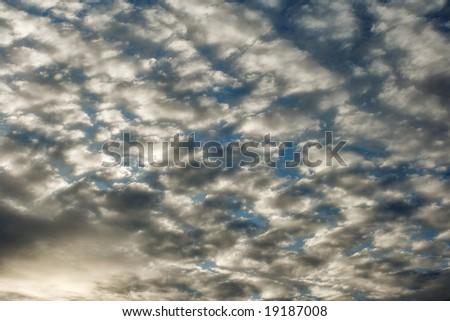 A Cloudy Sky - stock photo