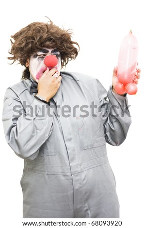 A Clowns Mind Wanders To More Provocative Preoccupations When Blowing Up A Balloon In A Sexually Suggestive Conception