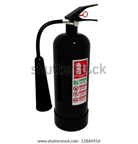 A CO2 fire extinguisher