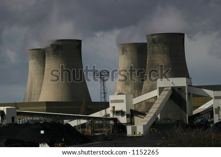 A Coal Burning Power Station - stock photo