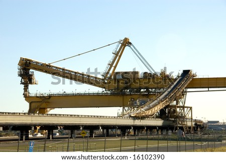 A coal loader in Newcastle Harbour, New South Wales, Australia - stock photo