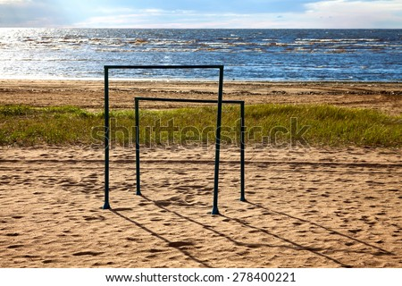 a coast of a Finnish gulf.Russia. - stock photo