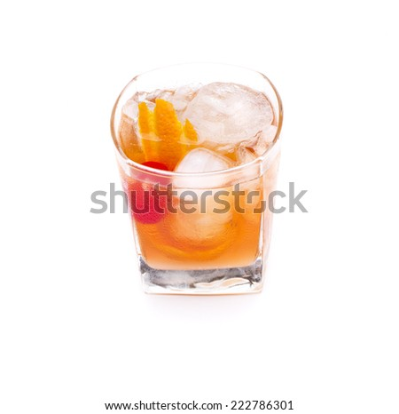 a cocktail called old fashion, the cocktail world's oldest - stock photo