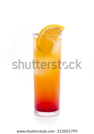 a cocktail that is based tequila and grenadine - stock photo