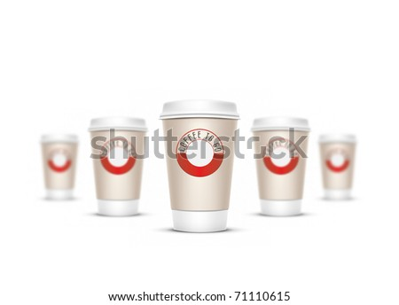 A coffee cup illustration with the words coffee to go - stock photo