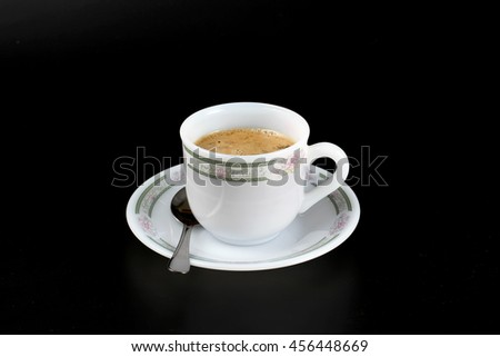 A coffee cup of tasty drink - stock photo