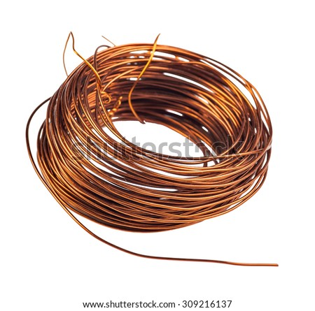 Coil Copper Wire Isolated On White Stock Photo (Edit Now)- Shutterstock