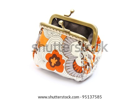 A coin purse on white background - stock photo