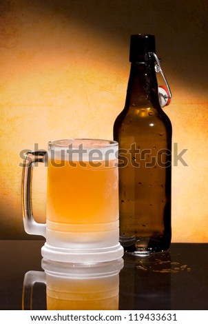 A Cold Beer in a Frosty Mug