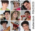 A collage of adolescents - stock photo