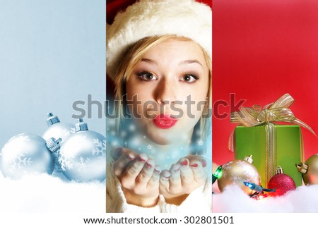A collage of Christmas magic to celebrate the season. - stock photo