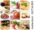 A collage of italian food - stock photo