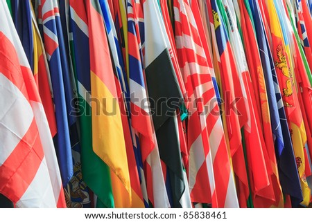 A collection of different types of flags - stock photo