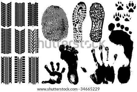 A collection of Fingerprints, Footprints and more