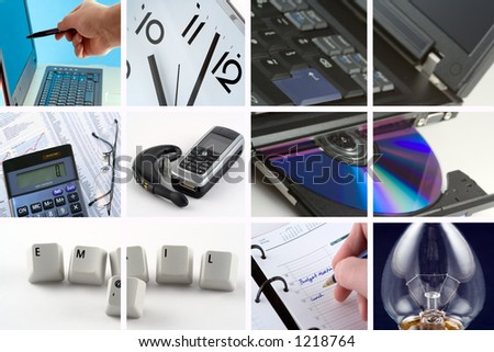 A collection of images representing doing business