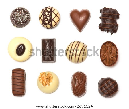 A collection of mixed chocolates