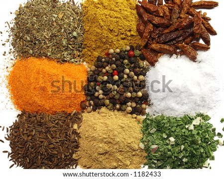 A collection of spices - stock photo