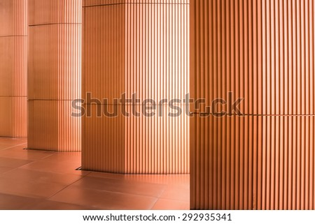 a colonnade with modern pillars - stock photo