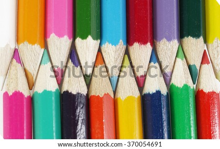 a colored pencils background - stock photo