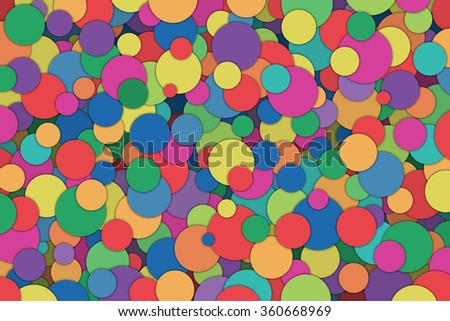 A Colorful Abstract Background with Scattered Circles, Dots - stock photo