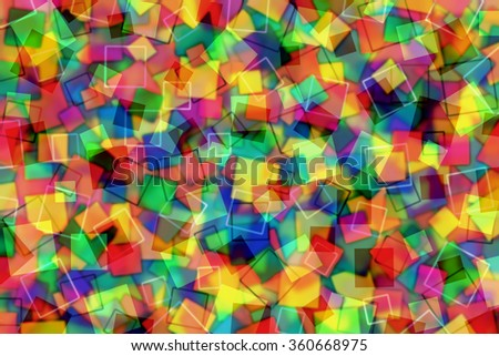 A Colorful Abstract Background with Transparent Squares - stock photo