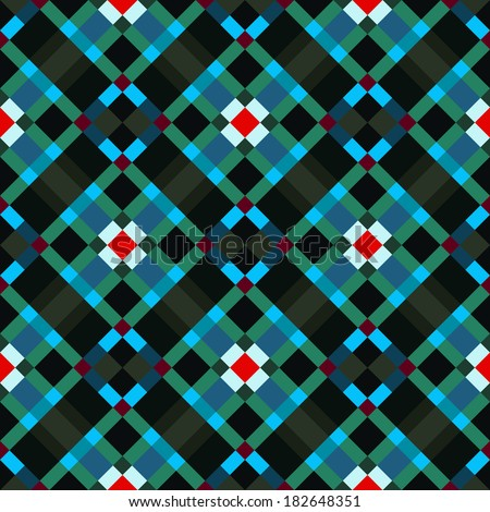 A colorful abstract geometric textile pattern. Seamlessly repeatable. Raster. - stock photo