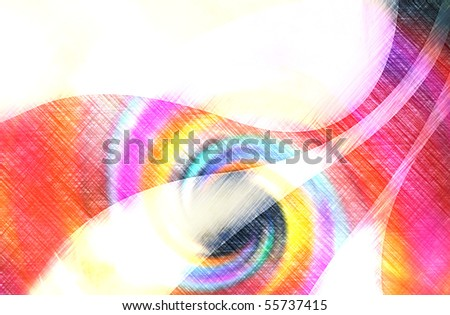 A colorful abstract swirl illustration that makes a great background. - stock photo