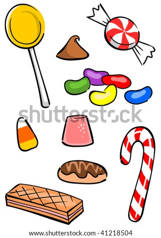 A colorful assortment of yummy candy. - stock photo