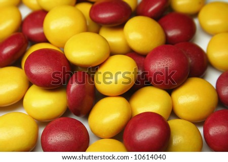 A colorful background - red and yellow candies