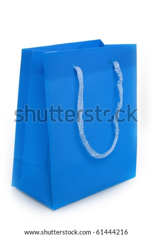 a colorful bag on a white background - stock photo