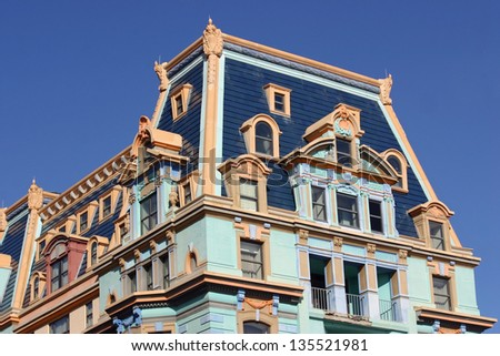 A colorful building in Atlantic City, New Jersey - stock photo