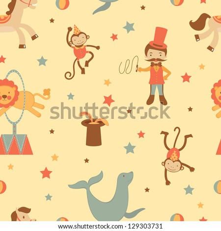 A colorful circus seamless background