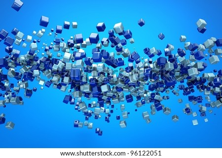 a colorful cubes abstract background - stock photo