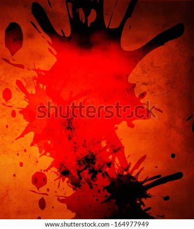 a colorful design with a shape overlay on textured pattern - stock photo