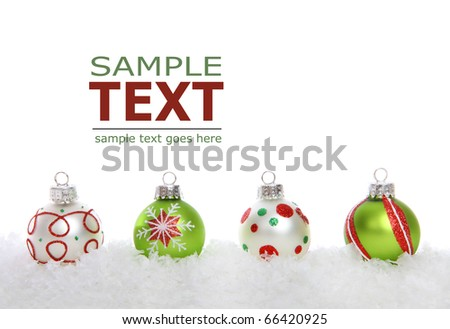 A colorful holiday christmas border over a white background