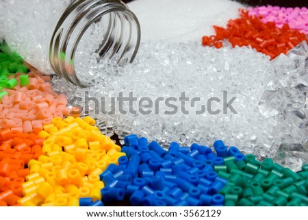 A colorful picture of plastic materials. Can be used in commodities related projects
