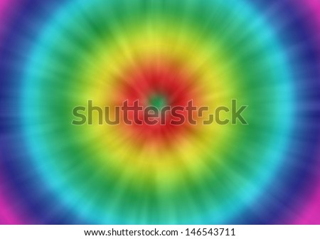 a colorful psychedelic tie dye background with a retro look - stock photo