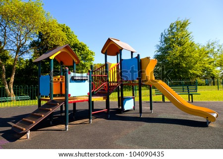 A colorful slide