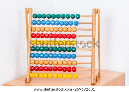 a colorful wooden Abacus