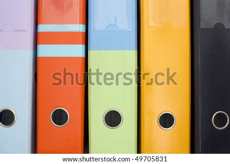 A colorfull pattern created from some archivers - stock photo