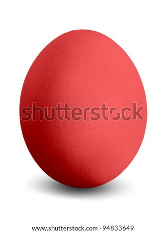 a coloured Easter egg isolated before white background