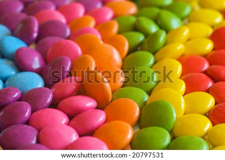 A colourful collection of chocolate candies