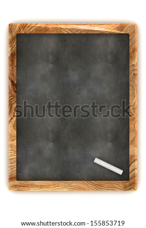 A Colourful 3d Rendered Blank Blackboard Illustration - stock photo