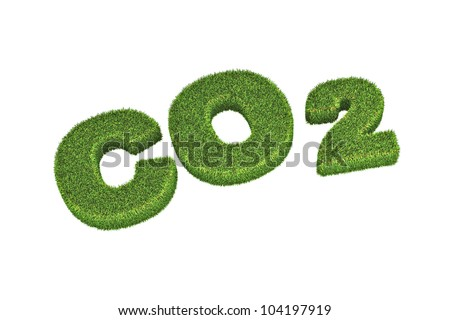 A Colourful 3d Rendered Co2 Concept Illustration - stock photo